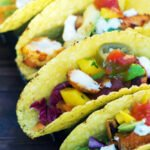 easy healthy fish tacos close up ready to eat